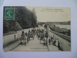 -C P A --28---- PIERRES Prés De Maintenon----Départ Des Laitiers - France