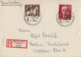 DR R-Brief Mif Minr.854,856 SST München 1.8.43 - Deutschland