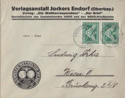 DR Brief Mef Minr.2x 371 Endorf Gelaufen Nach Wien - Deutschland