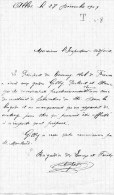 55Nj 11 Courrier Manuscrit Aux Gardes Des Eaux Et Forets De Allos De L'envoi De Materiel De Fabrication De Skis - Manuscripts