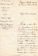 55Nj 12 Courrier Manuscrit St André Digne Mise à Disposition Ski Luges Traineaux Pour Liaison Colmar Allos Et Tourisme - Manuscripts