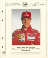 Michael Schuhmacher Telefonkartensammlung 1995/98 Mit 19 Karten (XXL9147) - Phonecards