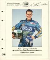 Michael Schuhmacher Telefonkartensammlung 1994 Mit 21 Karten (XXL9148) - Phonecards