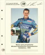 Michael Schuhmacher Telefonkartensammlung 1994 Mit 21 Karten (XXL9148) - Tarjetas Telefónicas