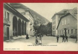 XBK-27  Loèche-les-Bains Leukerbad  La Place Et La Promenade. ANIME. Précurseur, Non Circulé - VS Wallis