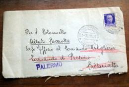 ITALIA 1932 - 50 CENT VEIII SU BUSTA VIAGGIATA CON CHIUDI BUSTA TBC - 1900-44 Victor Emmanuel III.
