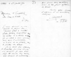 55Nj 13 Courrier Manuscrit Touring Club De France Pour La Pose Poteaux Indicateurs à Allos Quartier Du Laus - Manoscritti