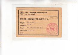 GESCHICHTE - 3. Reich, 12 Ausweise, Mitgliedkarten.... - Documenti Storici