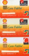 CARTES DE FIDELITE  SHELL  Club Avantages  (lot De 3)  1 N - Cartes De Fidélité Et Cadeau