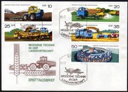 DDR 1977 - Moderne Technik In Der Landwirtschaft - MiNr.2236-2240 FDC - Landwirtschaft