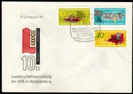 DDR 1962 - Landwirtschaftsausstellun G In Markkleeberg - MiNr.895-897 FDC - Landwirtschaft