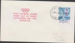 O) 1964 BERMUDA, XVIII OLYMPIC GAMES, SAILING, FDC XF - Bermuda