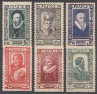 France 1943 Yvert#587-592 Mint Never Hinged (sans Charnieres) - France