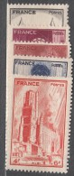 France 1944 Yvert#663-667 Mint Hinged (avec Charnieres) - France