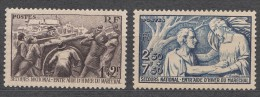 France 1941 Yvert#497-498 Mint Never Hinged (sans Charnieres) - France