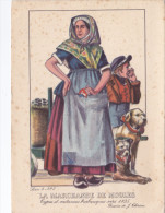 LA MARCHANDE DE MOULES TYPES ET COSTUMES BRABANCONS VERS 1835 DESSINS DE J. THIRIAR METIERS ATTELAGE DE CHIENS - Sin Clasificación