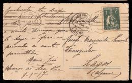 Portugal & Bilhete Postal, Porto , Lagos 1917 (239) - 1910-... République