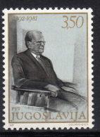 Yugoslavia,Birthday Of Tito 1981.,MNH - 1945-1992 Socialist Federal Republic Of Yugoslavia
