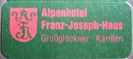 HOTEL MINII FRANZ JOSEPH GROSSGLOCKNER WIEN VIENA AUSTRIA OSTERREICH DECAL STICKER LUGGAGE LABEL ETIQUETTE AUFKLEBER - Hotel Labels