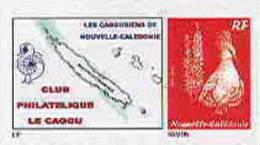 Nouvelle Caledonie Timbre Poste Personnalise Cagou Ramon Oiseau Prive Cagousiens De NC Neuf Avec Support 2009 Unc - Nouvelle-Calédonie