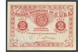 PORTUGAL - CUBA - CÉDULA De 2 CENTAVOS - 31.12.1919 - EMERGENCY PAPER MONEY - UNC - SEE 2 SCANS - Portugal