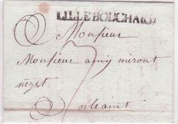 1779 - Lettre De RICHELIEU   ( Indre Et Loire ) Lenain L3 - 29 Mm Noir  Taxe 4 Pour Saumur - Postmark Collection (Covers)