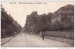 ALLEMAGNE NEUSTADT MAXIMILIANSTRASSE ET CONTROLE CIVIL.CPA - Neumarkt I. D. Oberpfalz
