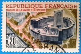 France 1964 : Maison De La Radiodiffusion-Télévision à Paris N° 1402 Oblitéré - Gebruikt