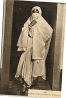 Femme arabe en Costume de Sortie  Recto Verso