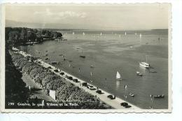 Suisse : Geneve : Le Quai Wilson Et La Rade (n°199 Sartorf) Dentelée - Vieilles Voitures - GE Geneva