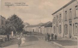 CPA AK Messancy Metzig Aubanger Weg Route Aubange Cafe Hotel ? Bei Mont Saint Martin Petingen Petange Arlon Virton Athus - Messancy