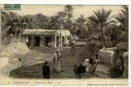 Carte Postale Ancienne Touggourt - L'Entr�e de l'Oasis