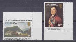 St. Helena 1980 Wellington's Visit 2v (corners) ** Mnh (21900) - Sint-Helena