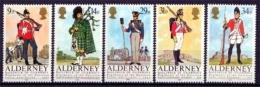 Alderney MiNr. 23/27 **, Historische Uniformen - Alderney