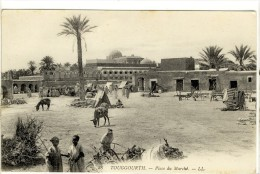 Carte Postale Ancienne Touggourt - Place du March�