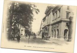 ALGER  Palais de Justice et Rue de Constantine Diligence   Recto Verso
