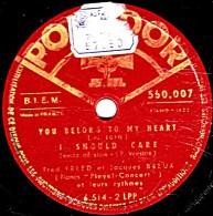 78 Trs - 25 Cm  état B - Fred FREED Et Jacques BREUX  Piano Concert - Voir étiquettes Fatiguées - 78 Rpm - Schellackplatten