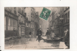 Inondations De Paris Sauvetage Place Maubert Timbre Perfore H C - Non Classificati