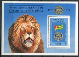 (cl 10 - P9)  Togo **  Bloc N° 297 (ref. Michel Au Dos) -  Rotary Clubv International. Lion - - Togo (1960-...)