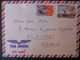 Burkina Faso Lettre De Ouagadougou 1991 Pour Dijon - Burkina Faso (1984-...)