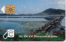 ST.MAARTEN ISL. PHONECARD ST.MAARTEN SCENERY/BEACH-1/96-USED(2) - Antilles (Netherlands)