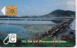 ST.MAARTEN ISL. PHONECARD ST.MAARTEN SCENERY/SIMPS0NBAY LAGOON-1/94-USED(2) - Antilles (Netherlands)