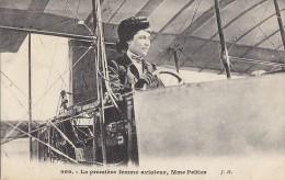 Aviation - Femme Aviatrice Pilote Mme Peltier - Aéroplane - Early Aviation - Aviateurs