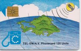 ST.MAARTEN ISL. PHONECARD GLOBE-1/96-USED(2) - Antilles (Netherlands)