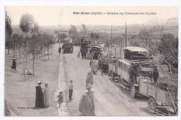 CPA Sidi A�ssa Alg�rie Services des Transports des March�s belle animation �dit Ferdinand Tuiner �crite 1927