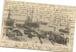 ALGER  D�part du Transatlantique Eugene Pereira Recto Verso