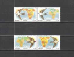 Ciskei Südafrika RSA 1984 Tiere Animals Fauna Vögel Birds Zugvögel Schwalben Swallows, Mi. 61-4 ** - Ciskei
