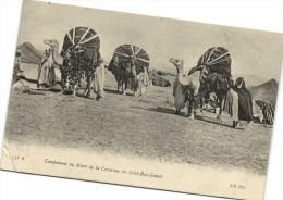 Campement au d�sert de la Caravane du Caid Ben Ganab   Recto verso