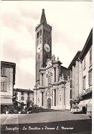T2183 CARTOLINA BERGAMO TREVIGLIO LA BASILICA E PIAZZA MANARA - Bergamo