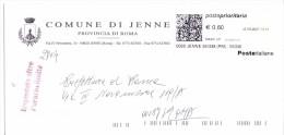 COMUNE DI JENNE - 00020 PROV. ROMA - ANNO 2007 - PP - FTO 11x23 - TEMA TOPIC COMUNI D´ITALIA - STORIA POSTALE - Machine Stamps (ATM)
